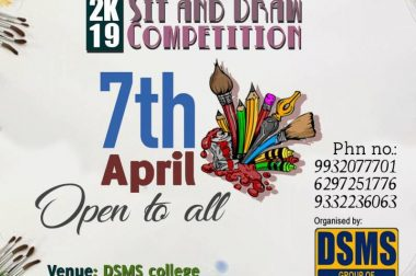 Sit and Draw Competition 7th April 2019